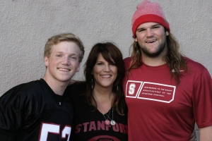 2014 Christmas card pic from Stanford football game Fall 2014